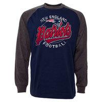 New England Patriots Rounder Raglan Long Sleeve Jersey T-Shirt
