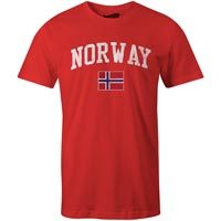 Norway MyCountry Vintage Jersey T-Shirt (Red)