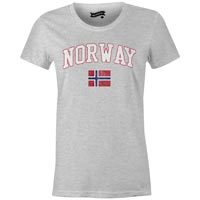 Norway MyCountry Women's Vintage Jersey T-Shirt (Athletic Gray)