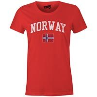 Norway MyCountry Women's Vintage Jersey T-Shirt (Red)