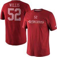 San Francisco 49ers Patrick Willis NFL Name and Number T-Shirt