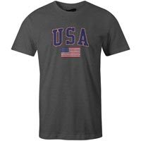 USA MyCountry Vintage Jersey T-Shirt (Charcoal Heather)