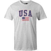 USA MyCountry Vintage Jersey T-Shirt (Heather Gray)