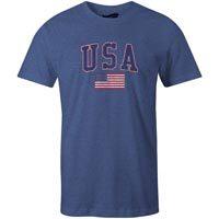 USA MyCountry Vintage Jersey T-Shirt (Heather Navy)