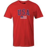 USA MyCountry Vintage Jersey T-Shirt (Red)