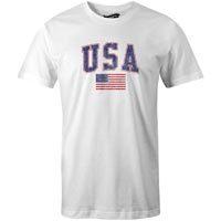 USA MyCountry Vintage Jersey T-Shirt (White)