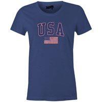 USA MyCountry Women's Vintage Jersey T-Shirt (Navy Heather)