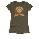 Women's Aquaman T-shirt with vintage Aqua Circle graphic