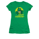 Women's Green Arrow T-shirt with Vintage Archer Circle