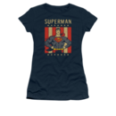 Women's Superman T-shirt with Vintage Retro Liberty graphic