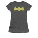 Women's Batgirl T-shirt with Distressed Batgirl Logo grahpic