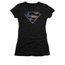 Women's Superman T-shirt with Wartorn Flag graphic
