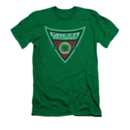 Men's Green Arrow T-Shirt with Vintage Shield Graphic