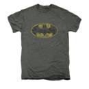 Men's Batman T-Shirt with Vintage Tattered Logo