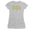 Women's Batgirl T-shirt with Yellow Batgirl Logo Graphic