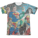 Men's Justice League T-Shirt with League Of Heroes Graphic