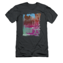 Men's Woodstock T-Shirt with Vintage Peace Love Music Graphic