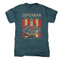 Men's Superman T-Shirt with Retro Liberty Graphic