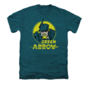 Men's Green Arrow T-Shirt with Vintage Arrow Circle Graphic