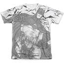 Men's Batman T-Shirt with Liney Sub Graphic