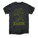 Men's Jurassic Park T-Shirt with Distressed T-Rex Graphic