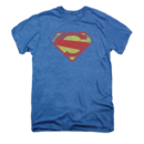 Men's Superman T-Shirt with Distressed Logo