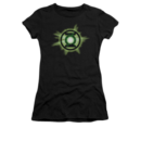 Women's Green Lantern T-shirt with Green Glow graphic