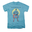 Men's Superman T-Shirt with Vintage Man In Circle Graphic