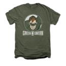 Men's Green Lantern T-Shirt with Vintage Circle Lantern Graphic