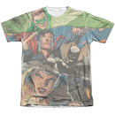 Men's Justice League T-Shirt with Torn Graphic