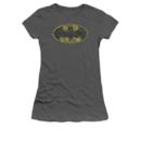 Women's Batman T-shirt with Tattered Logo graphic