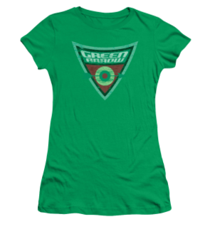 Women's Green Arrow T-shirt with Vintage Green Arrow Shield graphic