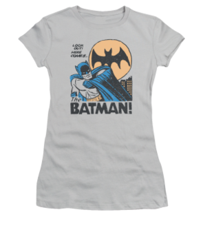 Women's Batman T-shirt with Vintage Look Out Graphic