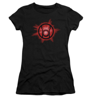 Women's Green Lantern T-shirt with Red Glow graphic