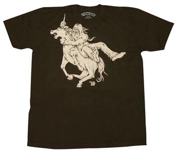 Ames Bros Bigfoot vs Unicorn Graphic T-Shirt