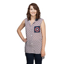 Captain America Shield Collared Tank Top - Exclusive - White/Navy