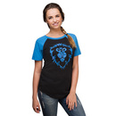 WoW Alliance Map Raglan Ladies' Tee - Exclusive - Black/Blue