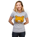 Rilakkuma Ladies' Fitted T-Shirt - Heather Grey