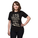 Love is the Most Powerful Magic of All Ladies' Tee - Black