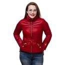 Wonder Woman Down Jacket - Dark Red