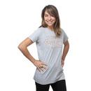 Star Wars Rose Gold Logo Ladies' Tee - Heather Grey