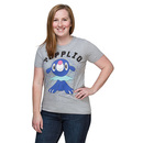 Pokémon Popplio Cosmic Splatters Ladies' Tee - Heather Grey