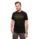 Star Wars Gold Logo T-Shirt - Black