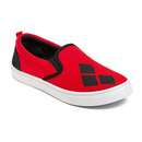 Harley Quinn Ladies' Slip-on Sneakers - Red
