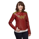 Wonder Woman Ladies' Moto Jacket - Red