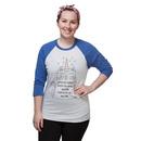 Unicorn Cat Ladies Raglan T-Shirt - Exclusive - Royal Blue