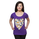Cat Love Ladies' Scoop Neck T-Shirt - Exclusive - Purple