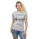 Cats Against Catcalls Ladies' T-Shirt - Grey