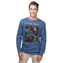 Star Trek Enterprise Thermal Long Sleeve Shirt  T-Shirt - Navy