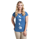 Zelda: Breath of the Wild Divine Beasts Ladies' Tee - Blue